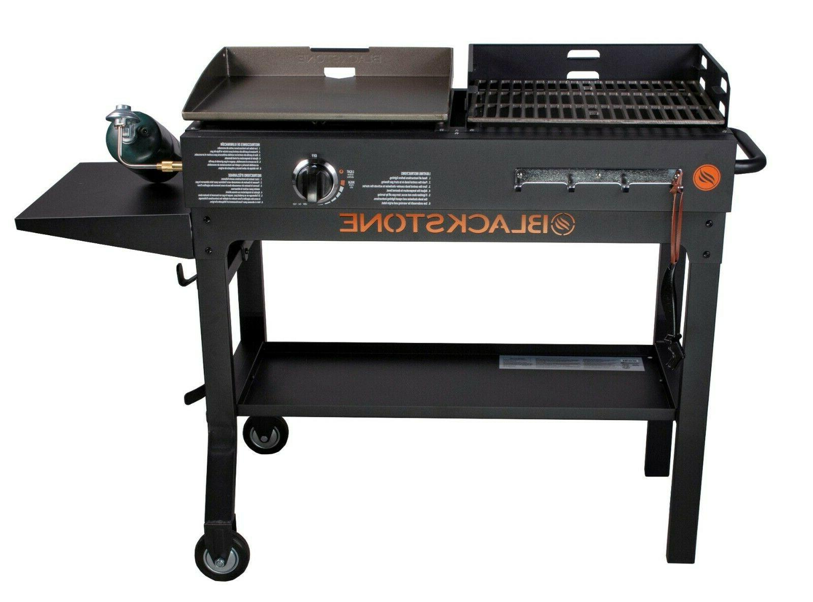 griddle and charcoal grill combo flat top