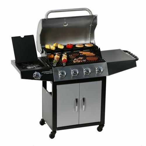 outdoor gas grill 5 burner side stainless