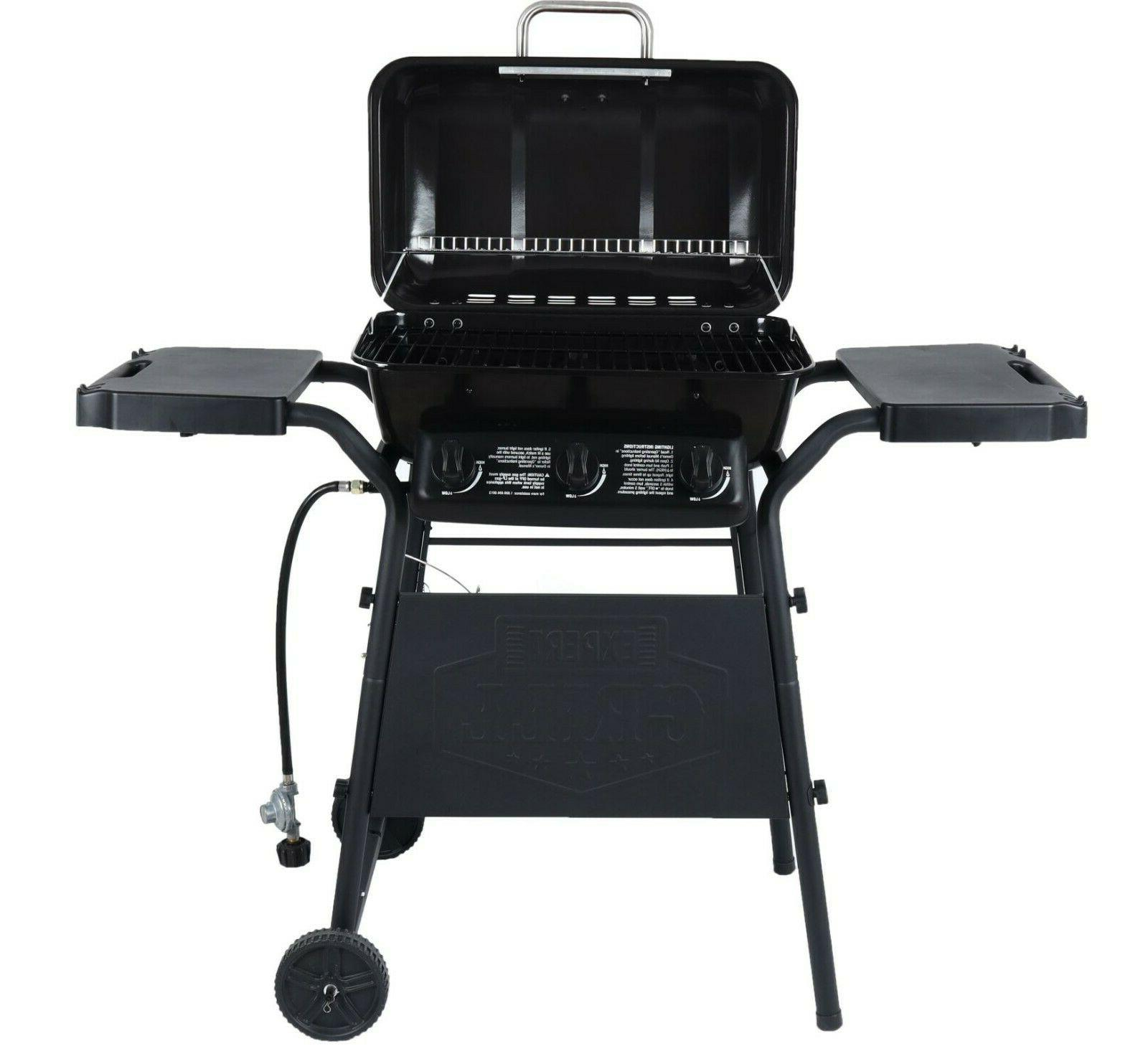 Outdoor Gas Grill Bbq 3 Steel Shelves