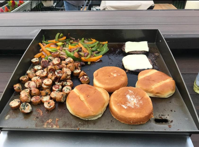 outdoor griddle bbq cooking flat top propane