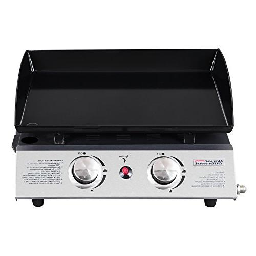 Royal Gourmet Tabletop Grill, Portable Gas Griddle, for Outdoor Picnicking