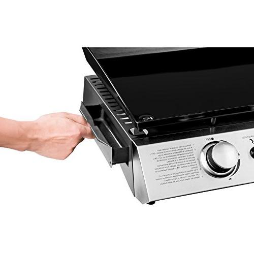 Royal Gourmet 22 Tabletop Grill, Gas 2-Adjustable Burners, for Outdoor Picnicking