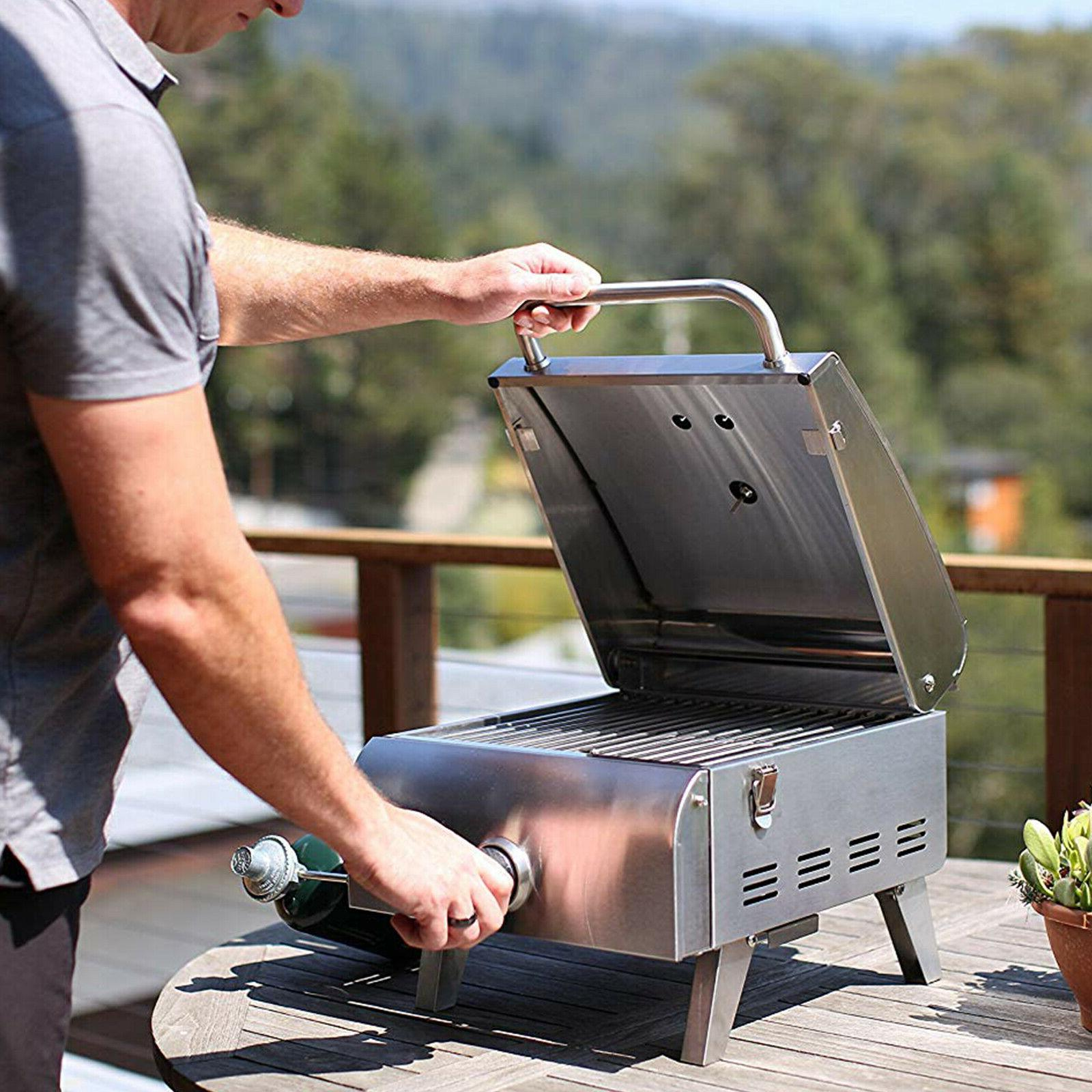Portable Propane Gas Grill Stainless Steel RV Outdoor