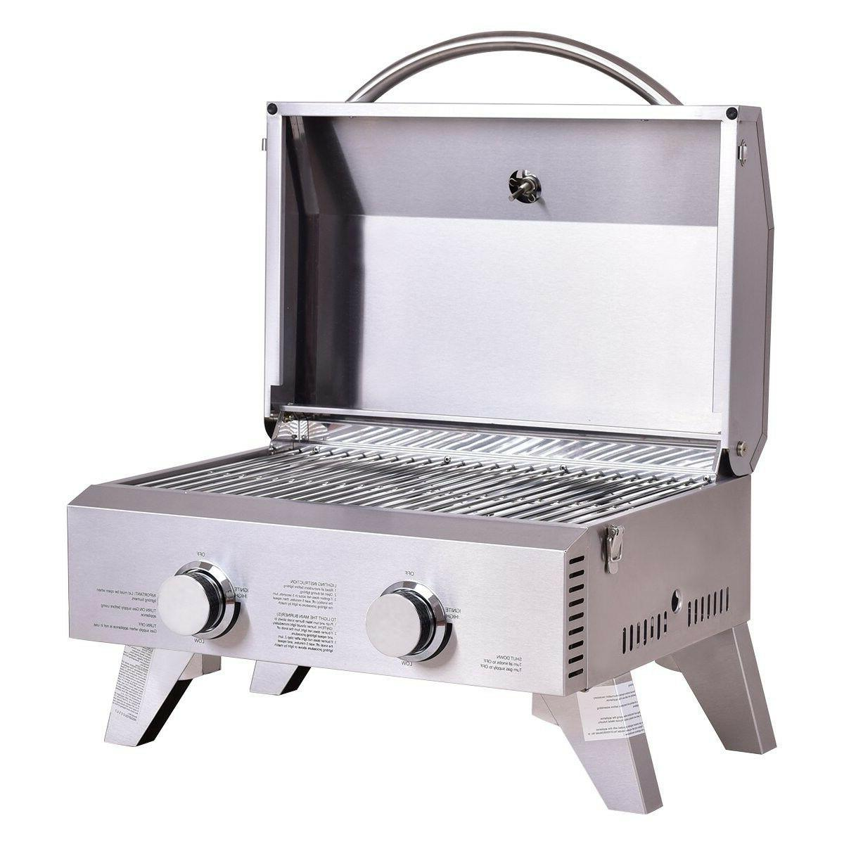 propane gas grill 2 burner stainless steel