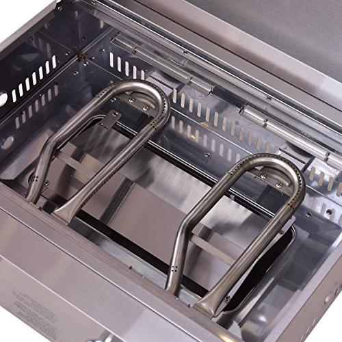 """Giantex Grill BBQ, 20000 BTU, Perfect for Camping, Outdoor Use, 18"""" x Silver"""
