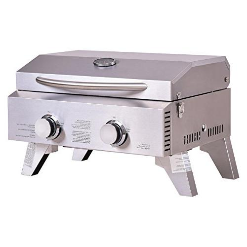 "Giantex Propane Tabletop Grill BBQ, 20000 Perfect for Camping, Picnics Outdoor Use, 18"" x"