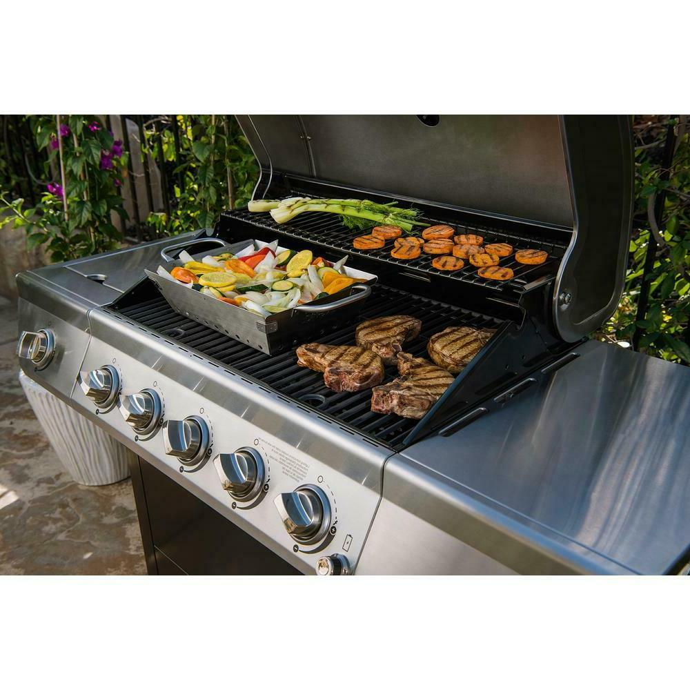 Propane Gas Grill Stainless Black