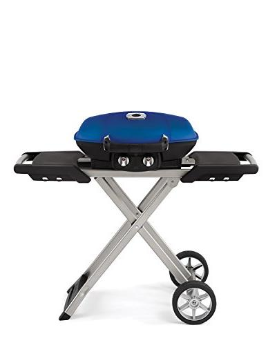 Napoleon Travel Q TQ285XBL LP Gas with 285 sq. 12,000 Stainless Steel JETFIRE Ignition, Iron Grids and Scissor