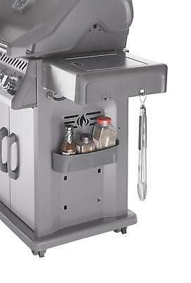 Napoleon Rogue 425 Grill on Side Burner, Stainless Natural Gas