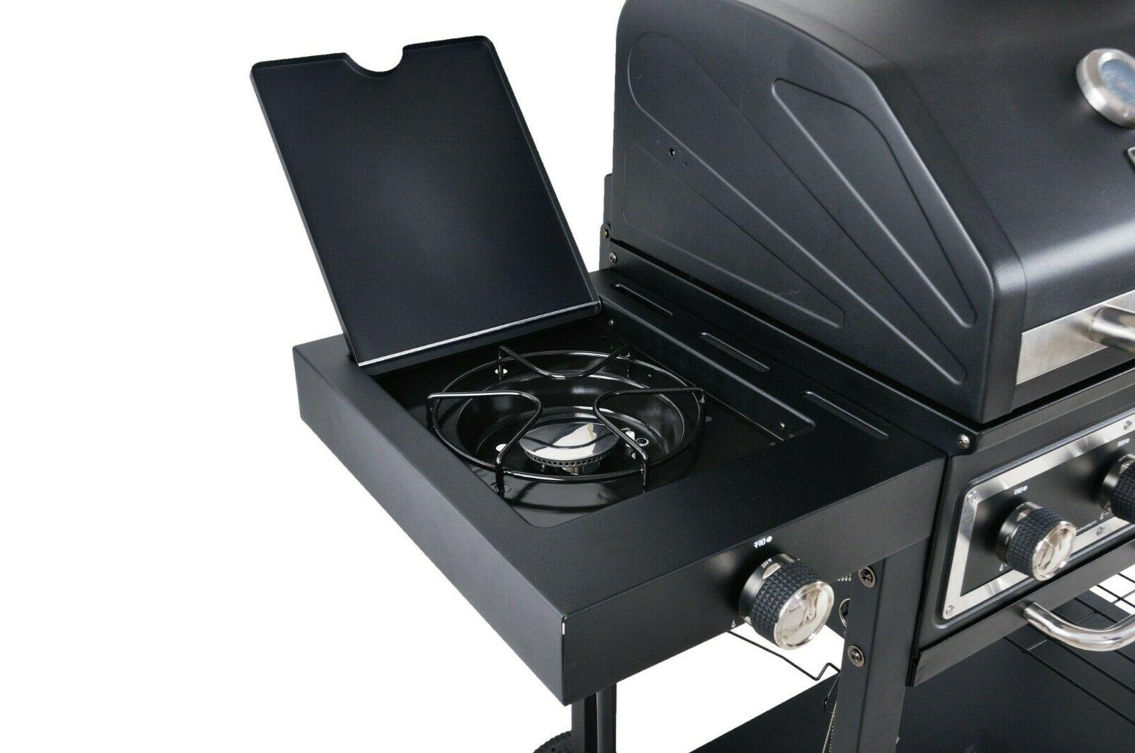 RevoAce Dual Fuel Grill Charcoal Gas Stainless Steel USA