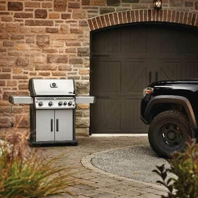 Gas Grill on Cart with Burner, 28.75-Inches,