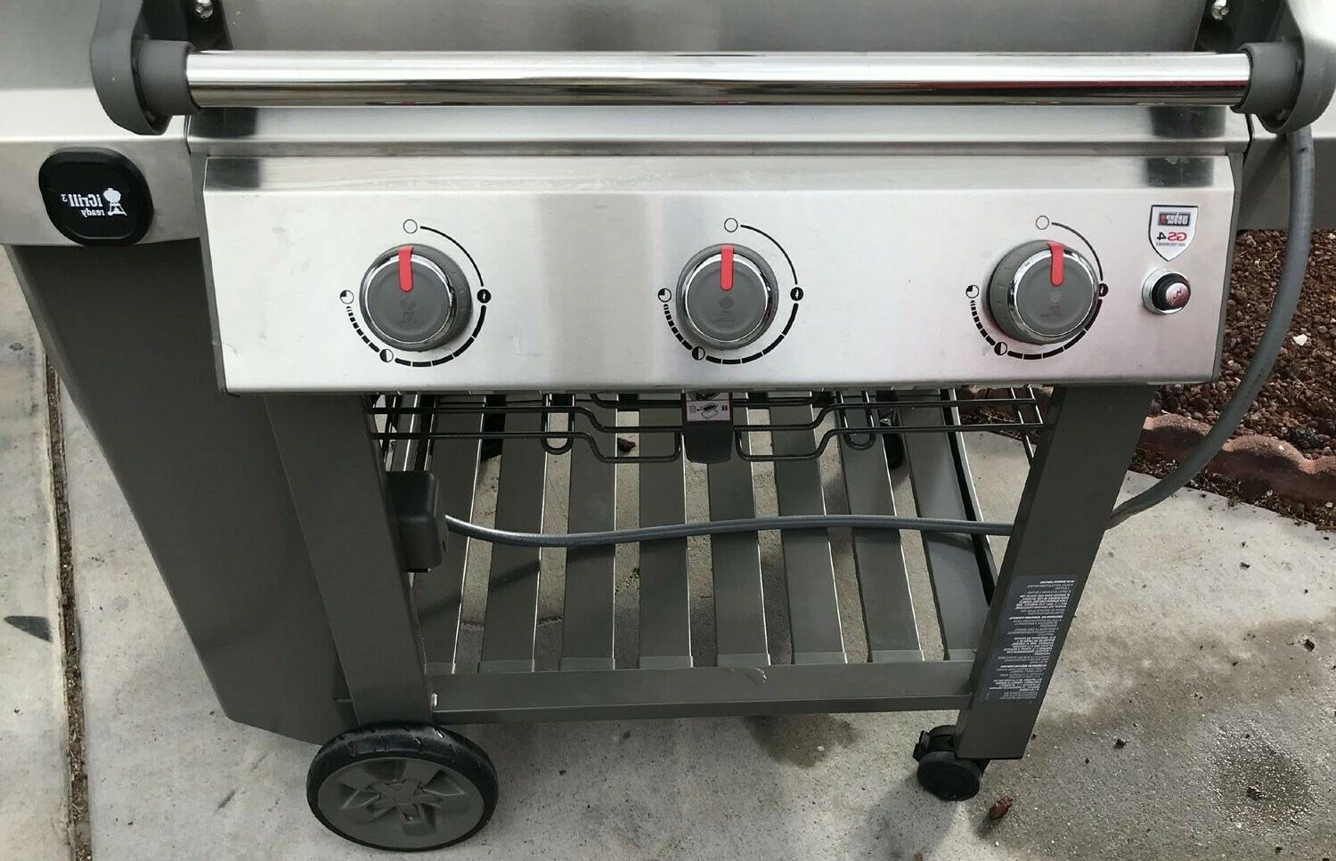 weber NG Gas stainless steel grill burner