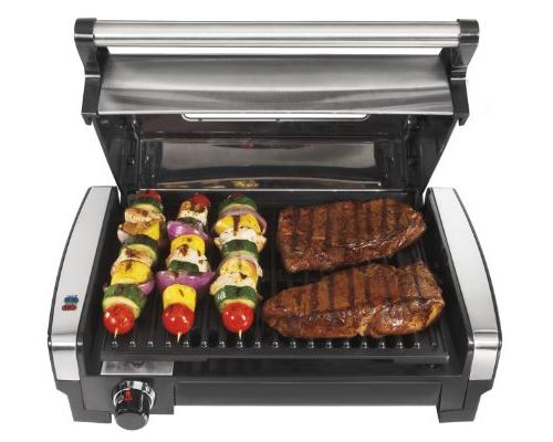 Hamilton Searing Grill with Lid Viewing Window