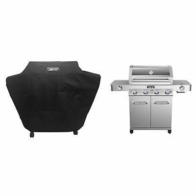stainless steel 4 burner propane gas grill