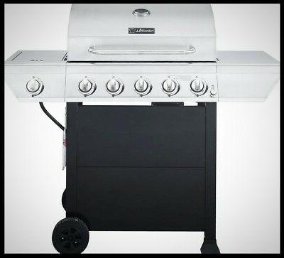 stainless steel propane gas grill