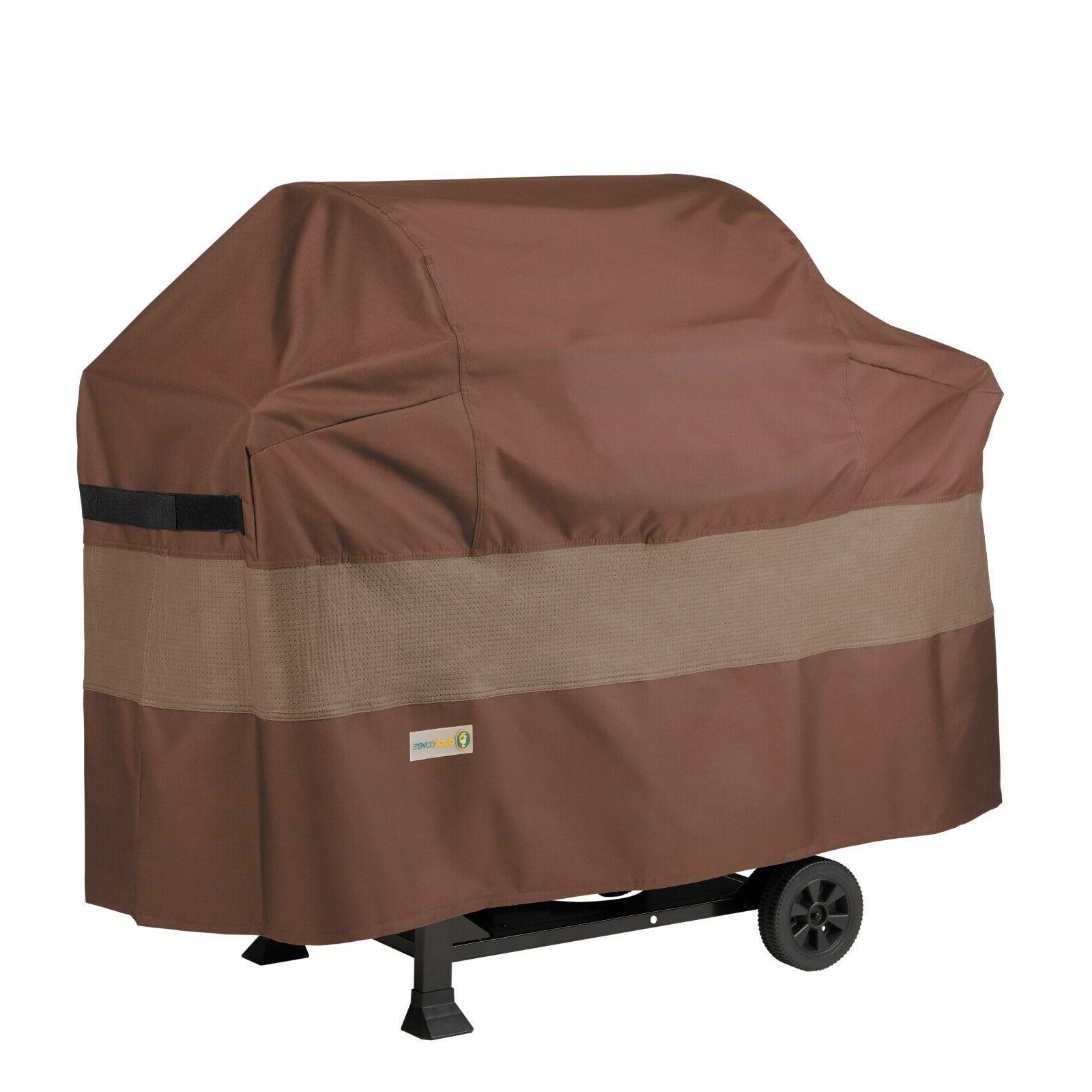 ultimate waterproof barbecue grill cover mocha