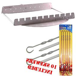 Keep on Turning Motor Operated Rotating 10pc Skewer Kit for