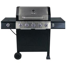Dyna-Glo 5-Burner Open Cart LP Gas Grill in Stainless Steel
