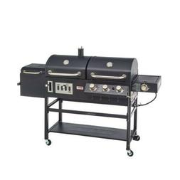 Outdoor Grill Propane Gas / Charcoal Combination w/ Side Bur
