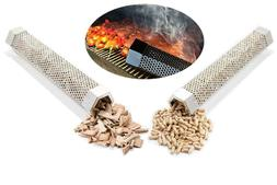 "Pellet Smoker Tube 12"" Wood Pellet for All Grill Electric Ga"