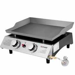 Royal Gourmet Portable 2 Burner Propane Gas Grill Griddle Pd