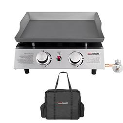 Royal Gourmet Portable Gas Griddle, Table Top Grill, 2 Burne