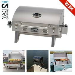 Portable Gas Grill Barbecue Boat Mount Tailgating Camp Fish