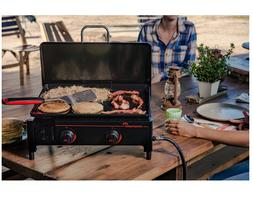 Portable Griddle Flat Top Hibachi Outdoor Cooking Grill BBQ