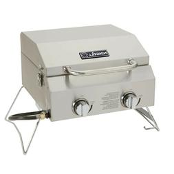 Nexgrill Portable Propane Compact Gas Table Top Grill Stainl