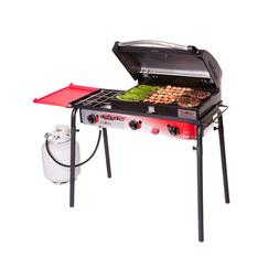 Camp Chef Portable Propane Gas Grill in Red Big Gas 3-Burner