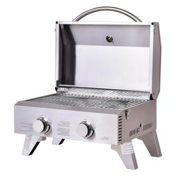 Giantex Propane Gas Grill 2 Burner Stainless Steel BBQ Table