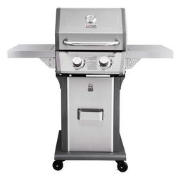 Royal Gourmet Propane Gas Grill 2-Burner Stainless Steel Pat