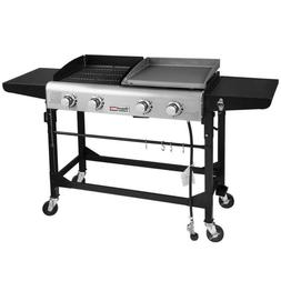Royal Gourmet Propane Gas Grill Griddle Combo 4 Burners Port