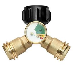 DOZYANT Propane Y-Splitter Tee Adapter Connector with Propan