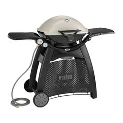 Q 3200 2-Burner Natural Gas Grill In Titanium With Built-In