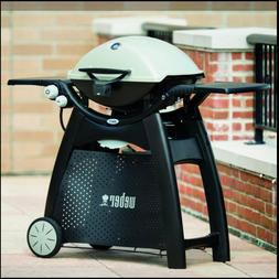 Weber Q 3200 2-Burner Natural Gas Grill in Titanium with Bui