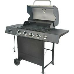 Outdoor LP Propane BBQ Gas Grill 4 Burner Side Burner Stainl