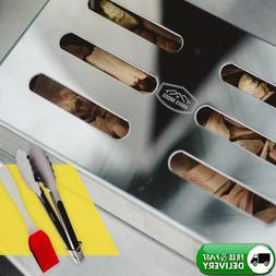 smoker box stainless steel charcoal gas bbq