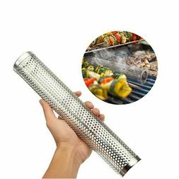 Smoker Tube BBQ Charcoal Gas Grill Grilling Meat Wood Pellet