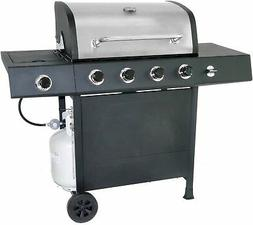 Stainless Steel 5 Burner Side Propane Gas Grill Barbecue BBQ