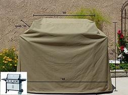 """Premium Tight Weave Heavy Gauge BBQ Grill Cover up to 84"""" Lo"""
