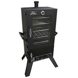 Smoke Hollow 44 in. Vertical 2-Door Gas Smoker Window Black